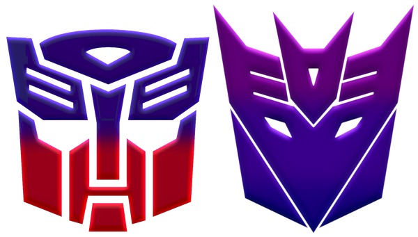 Autobot and Decepticon logos by KalEl7