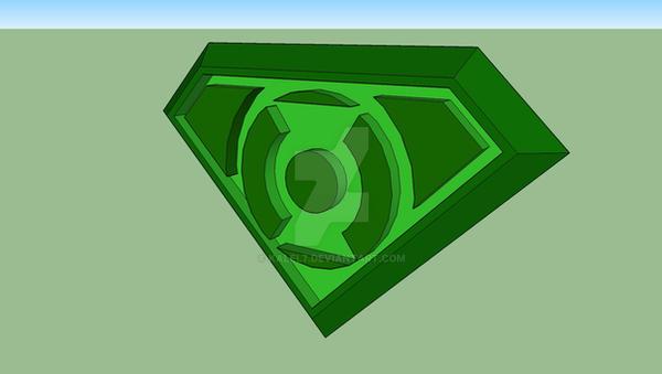 Green Lantern Superman buckle by KalEl7