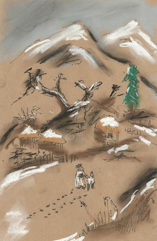 Snowy Road To Hwna