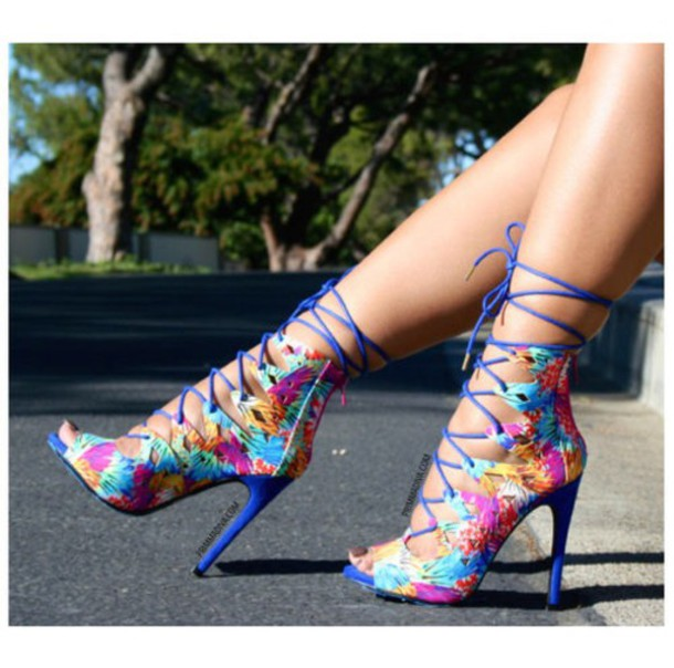 9ef4f08836d Colourful Lace-Up Heels by Shoes-Are-Life on DeviantArt