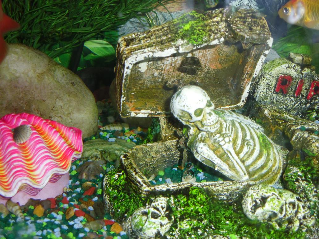 Skeleton Fish Tank Decoration By Foreverjimmysullivan On
