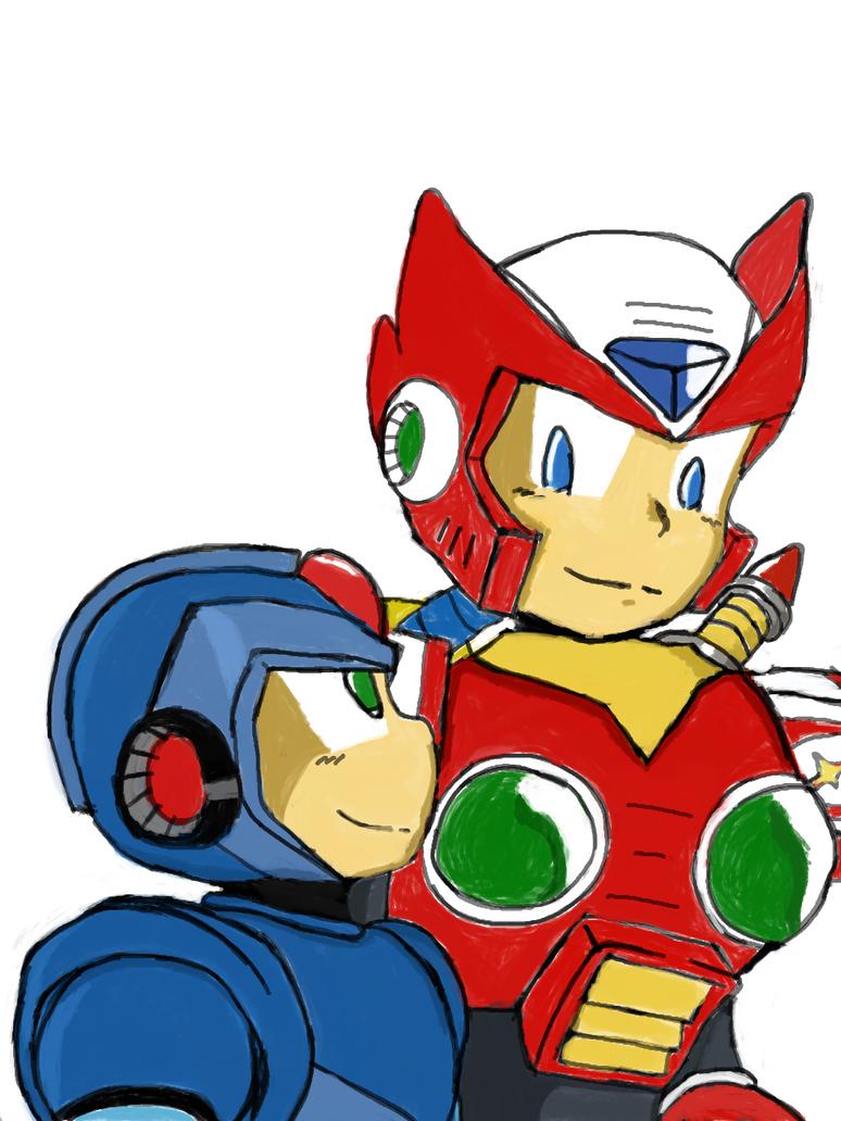 Mega Man X and Zero by LeiFangHelenaFan