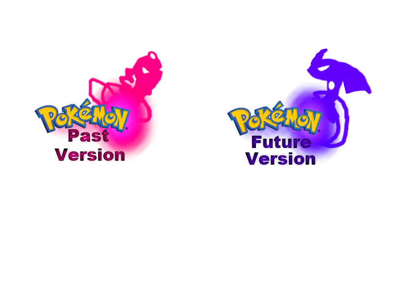 Pokemon Past and Pokemon Future Version Logo by Uxie126