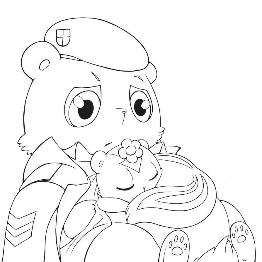 Best pillow ever (lineart) by ~Lutherine on deviantART