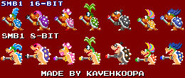 SMB1 Modern Koopalings sprites (NES and SNES)