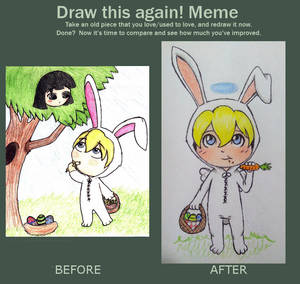 Draw this again - Easter Bunny Fred
