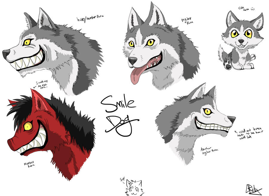 Smile dog concept art by inkswell on deviantart