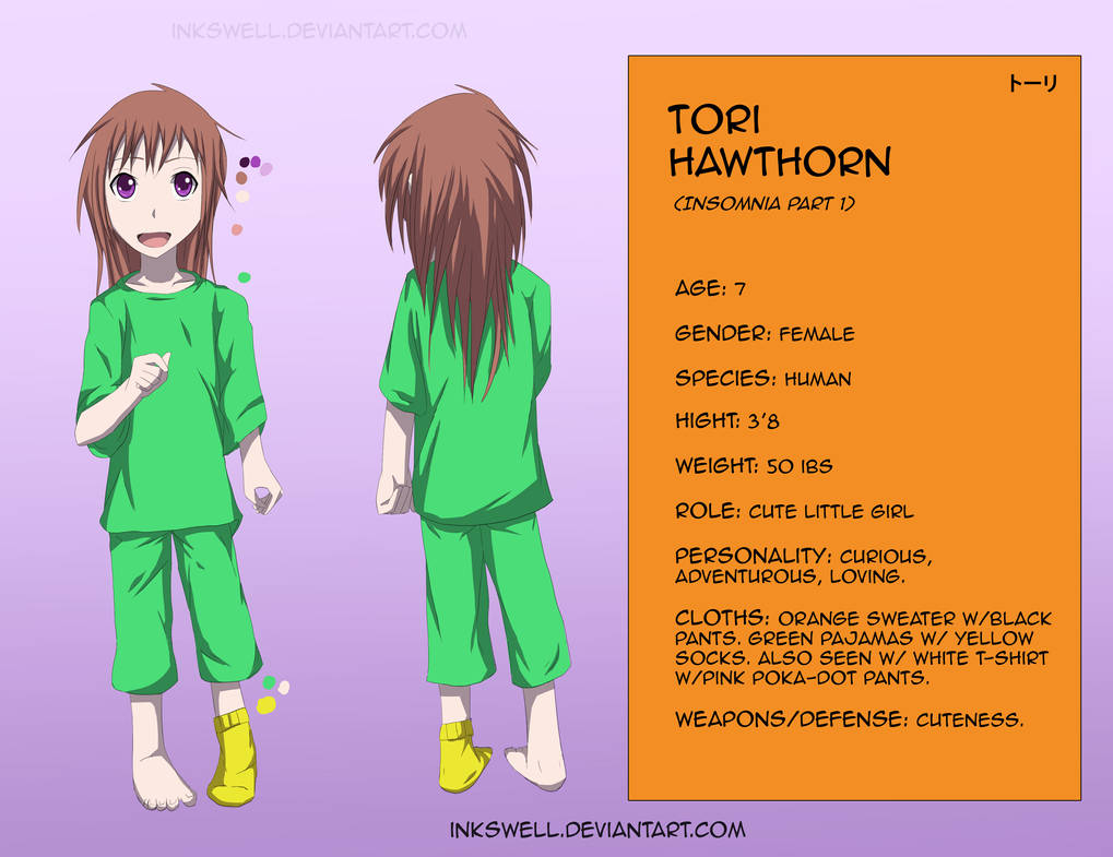 Tori ref by Inkswell on DeviantArt