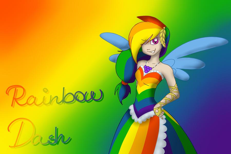 Rainbow dash gala dress human