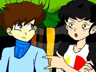 KJ Talking To Mega Man. by Kenneth-Setser