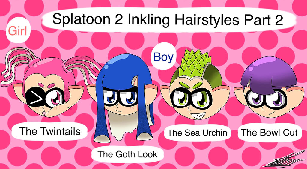 Splatoon 2 Hairstyles Part 2 By Charisma Moon On Deviantart