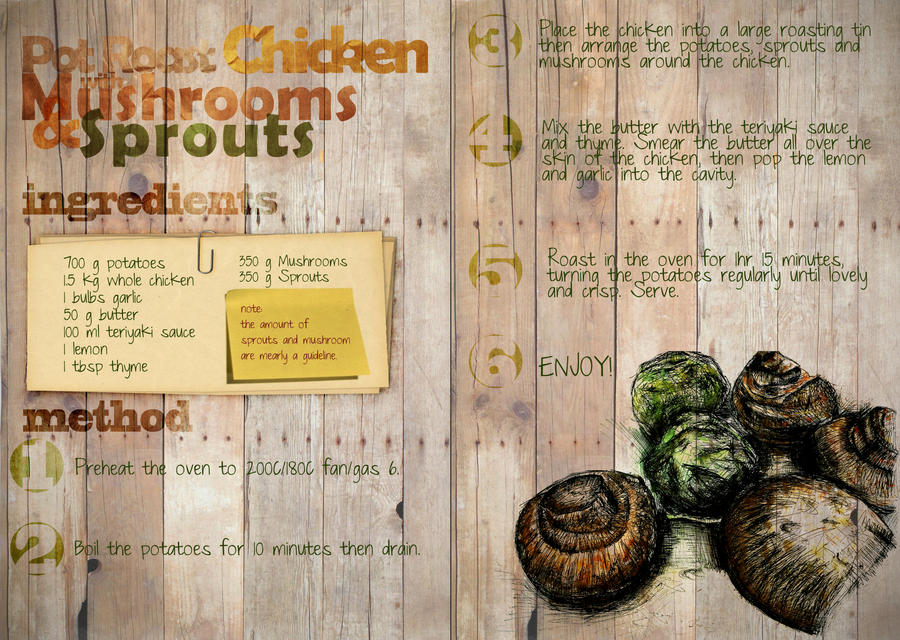 cookbook layout by kai8946 on deviantart