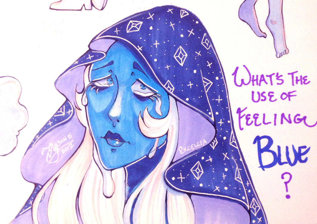 Blue Diamond from Steven Universe! I loved the episodes and especially the song aaa This is part of a sketchdump, so there's some other things in here besides the diamond herself.    ...