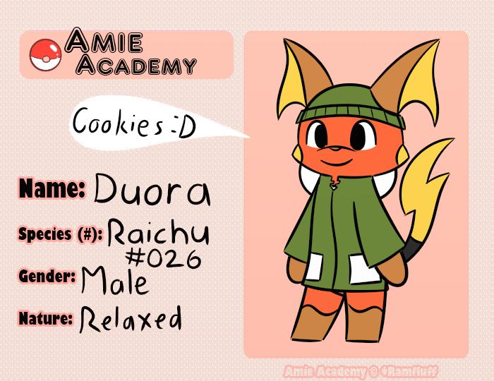Amie Academy Application Duora by YoshiStar6822