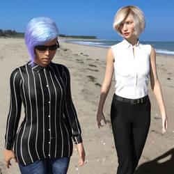 Lydia and Silva at the Beach!