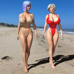 Lydia and Silva at the Beach! Part 2