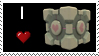 I :heart: Companion Cube Stamp by The-Scary-Sister