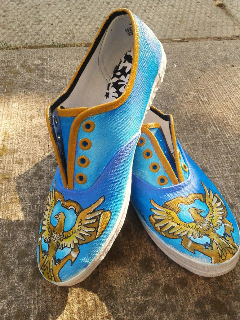 ravenclaw canvas shoes by dorianbasil on deviantart