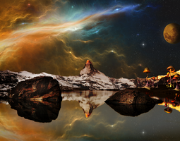 Night in alien mountains - mushrooms by utan77