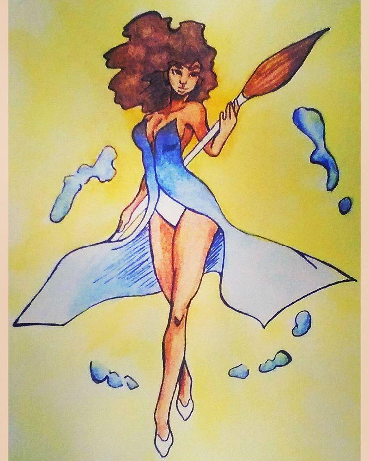 WaterColor Fairy by courtneynotdumb