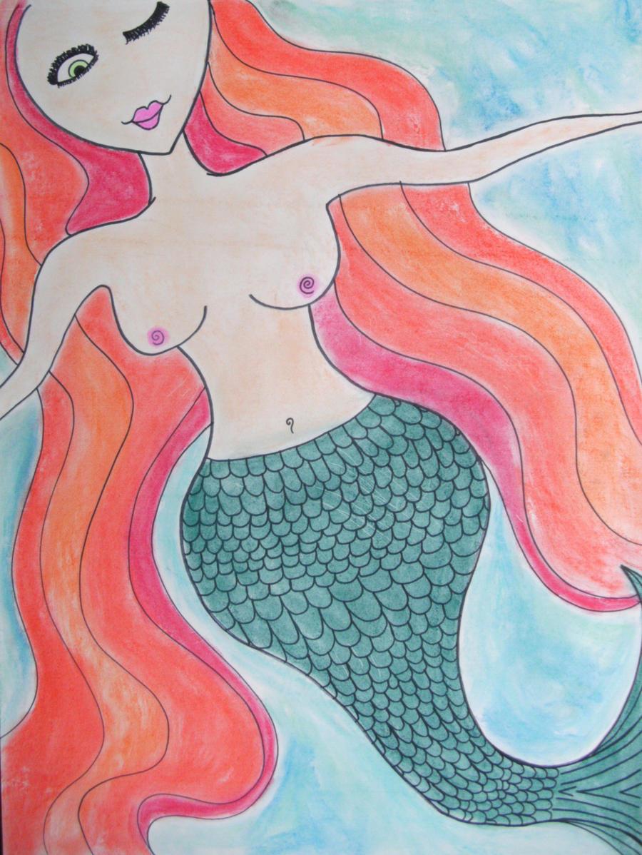 Scarlet the Mermaid by readheadgirl