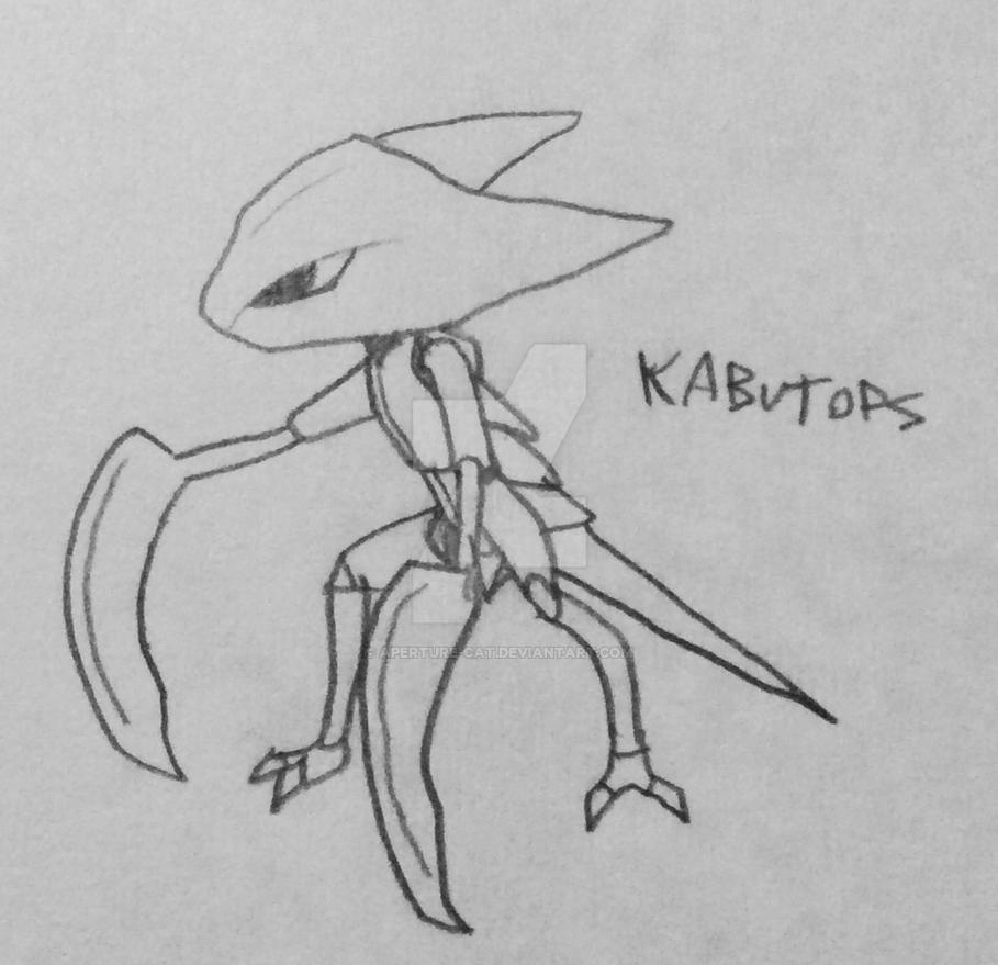 Kabutops Doodle by Aperture-Cat