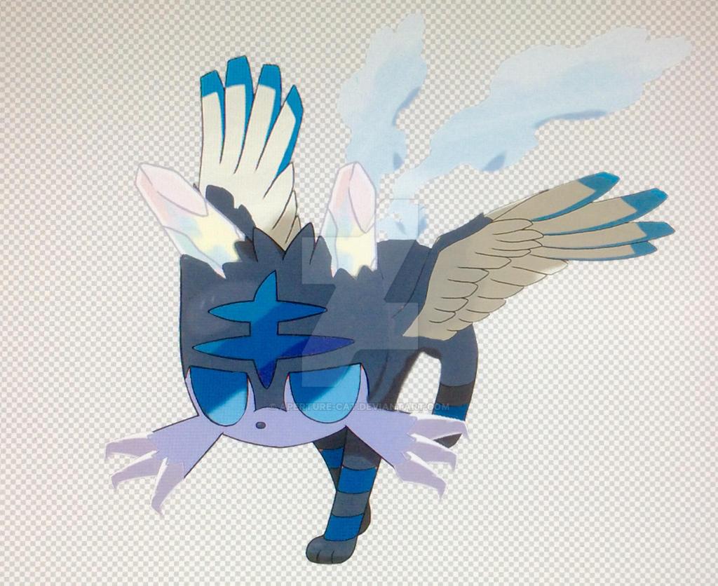 Ice-Flying Litten (Pokemon Type Swap) by Aperture-Cat