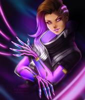 [FANART] Boop! It's Sombra! by SirensReverie