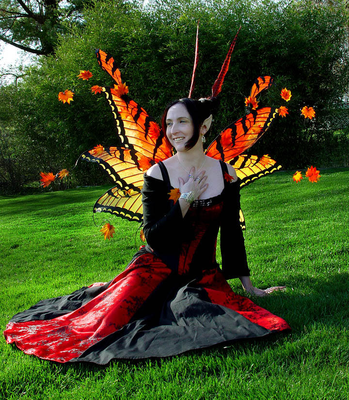 Japanese Maple Tri-Fairy Wings by customfairywings