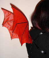 Red Imp Wings by customfairywings