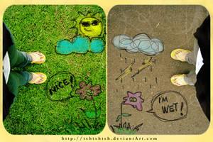 sunny and rainny by tshtshtsh