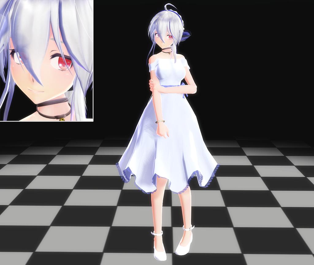 Mmd dress models download by hikariwakamiya on deviantart - Filename Yowane_haku_one_piece_mmd_model_by_hakuyowane_chan D6wqe2v Png