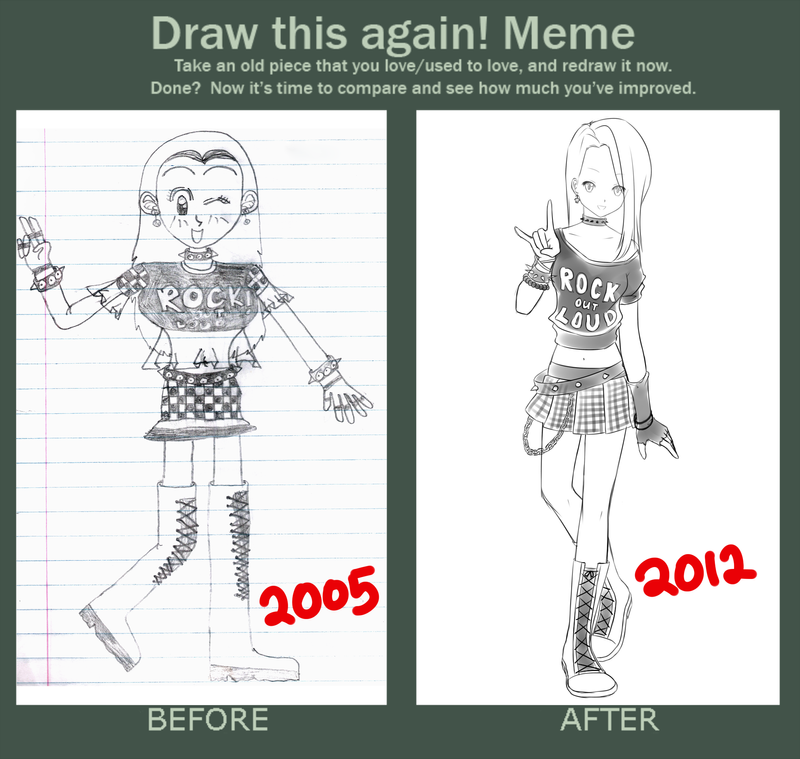 Draw this again meme by hahalyssa on deviantart for Draw this again meme template
