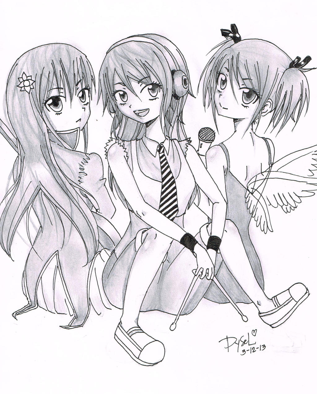 Anime Girls Band Members By Leseyd On DeviantArt