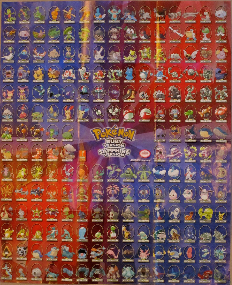 Pokemon ruby sapphire poster by origami chick on deviantart