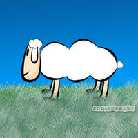 Sheep Toon with photoshop by CosasdeKike
