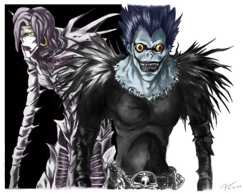 death note ryuk and rem -#main