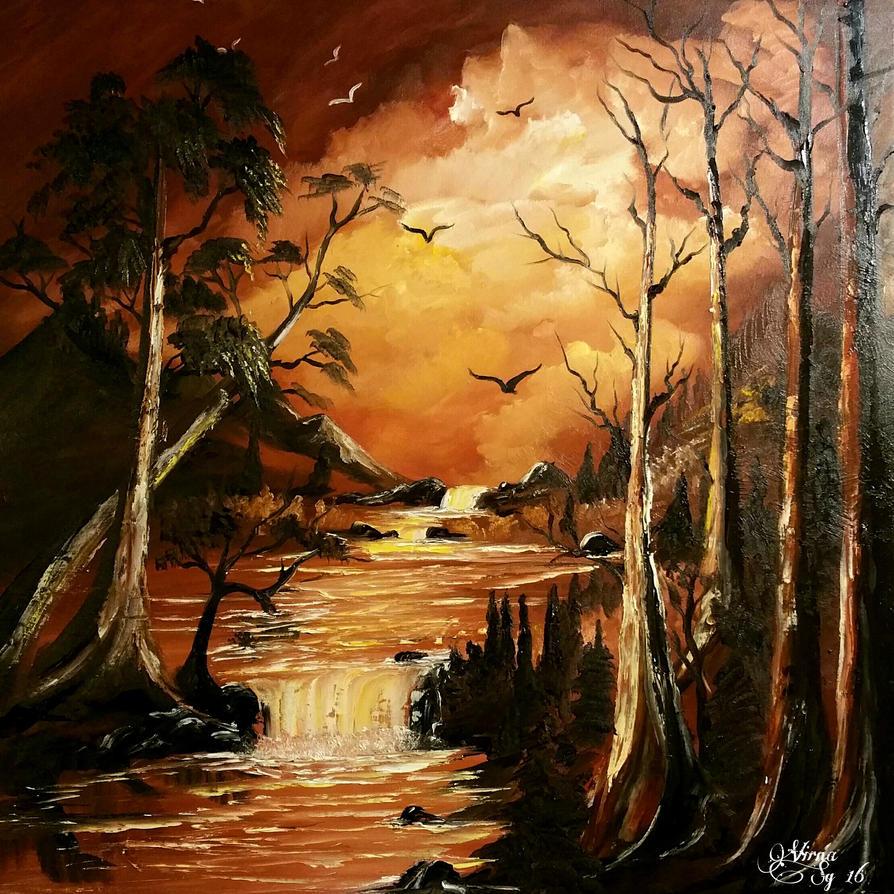 Sunset paradise by virnagray