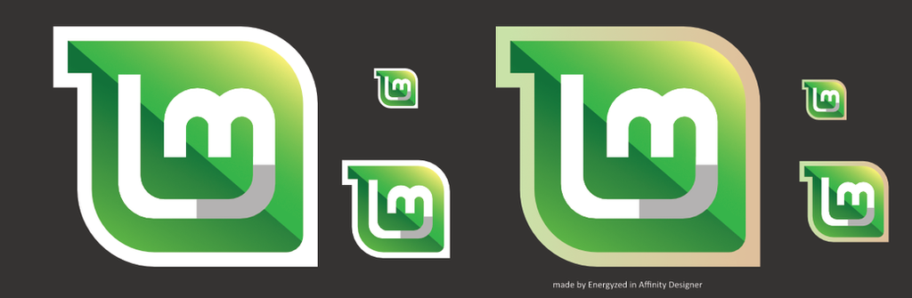 Linux Mint Logos by Energyzed