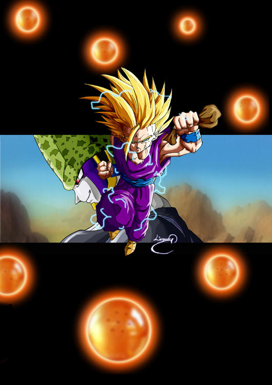 dragon ball gohan. gohan vs cell - Dragonball -