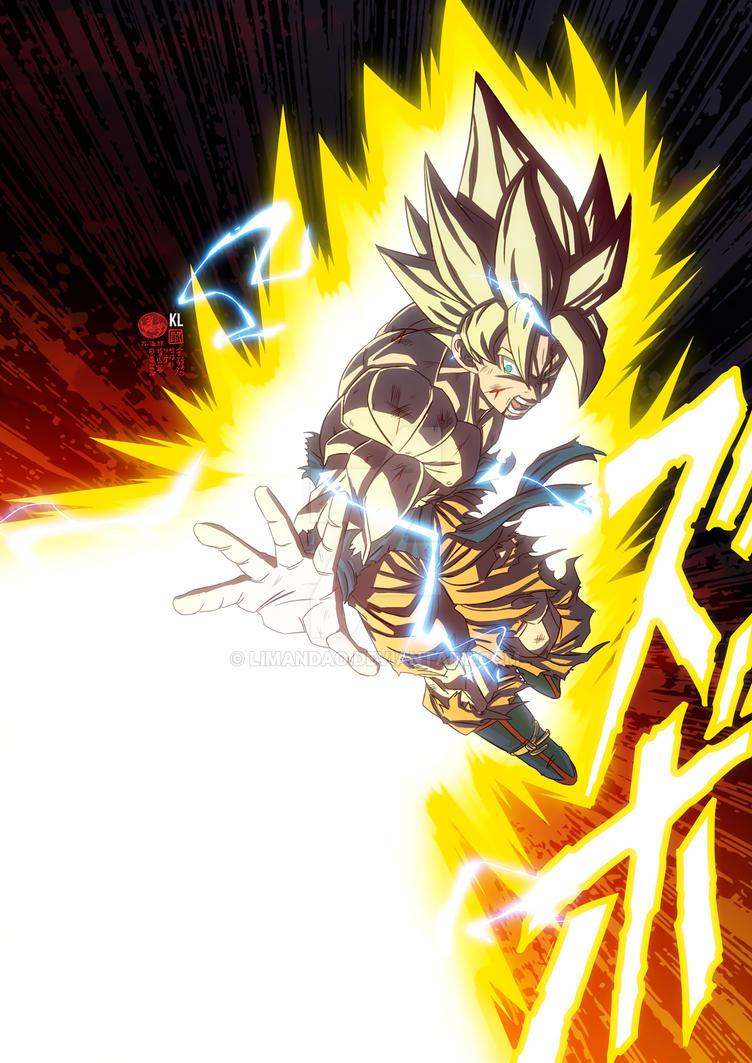 Goku Super Saiyan one hand Kamehameha by limandao