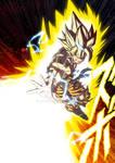 Goku Super Saiyan one hand Kamehameha