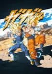 Endless battle Goku VS Majin Vegeta 2019