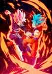 Black Goku rose VS Goku SSGSS