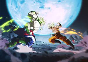 Goku VS the Legendary Super Saiyan