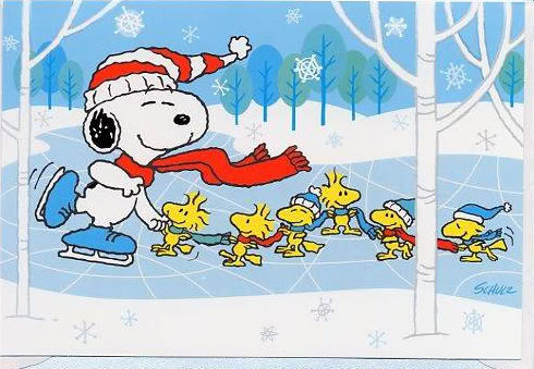 snoopy   winter wonderland by sugarsplash101 on deviantart Winter Ice Skating Clip Art Ice Skating Clip Art Background