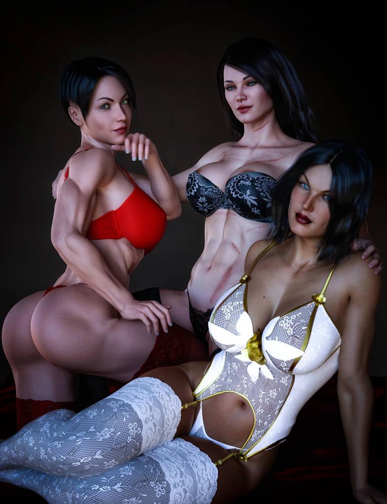 Triple Lingerie Special! by maltorramus