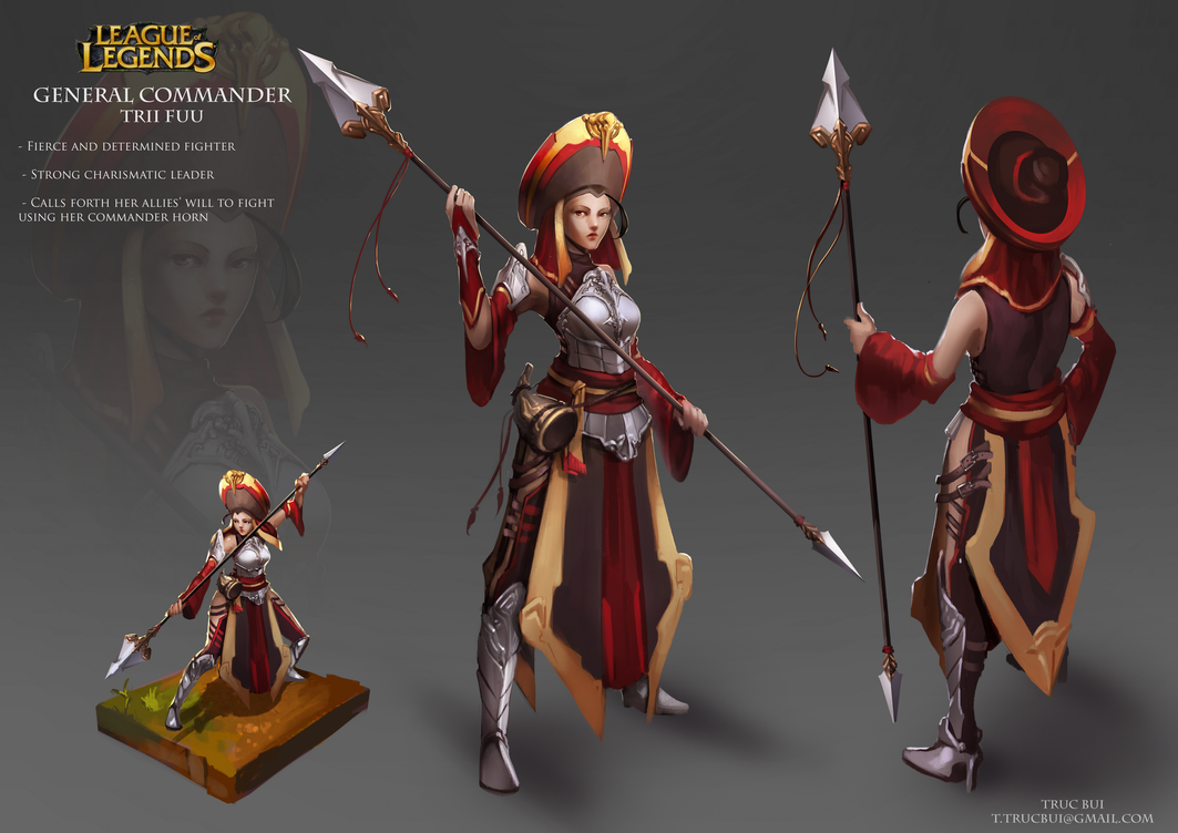 Character Design League Of Legends : Trii fu by four on deviantart
