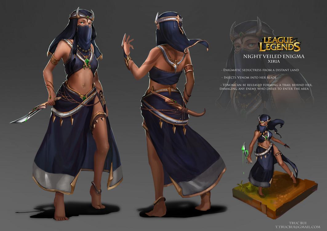 League Of Legends Character Design Contest : Xiria by four on deviantart