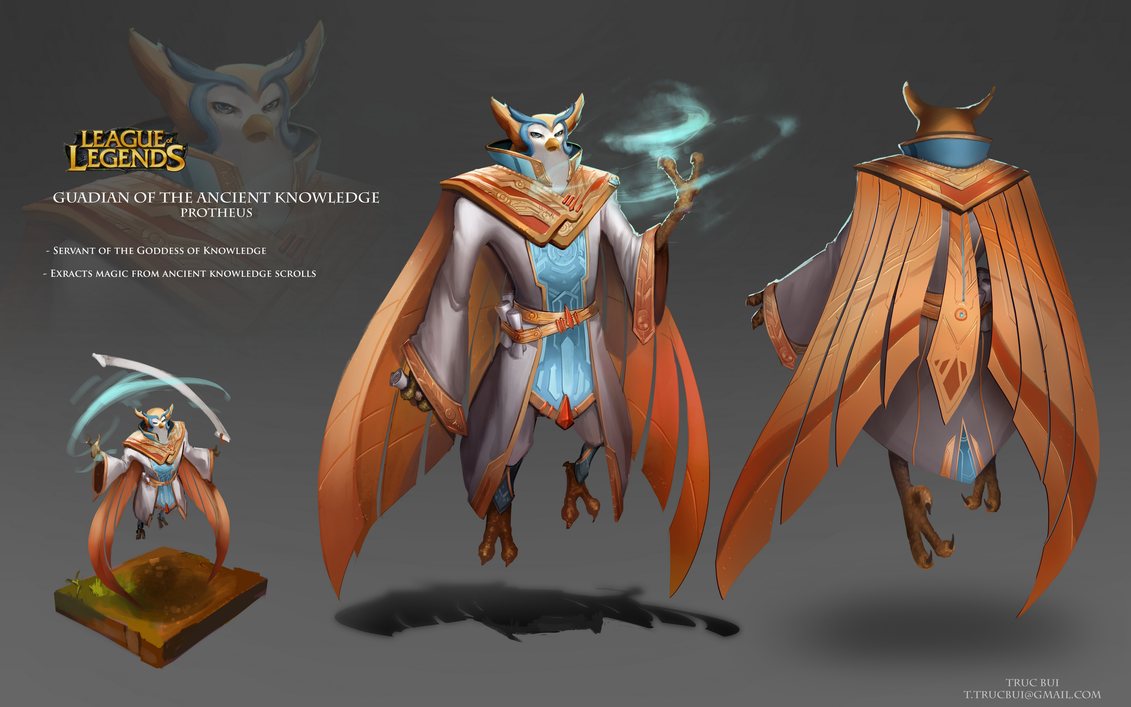 League Of Legends Character Design Contest : New champion ikaria the owl prophet